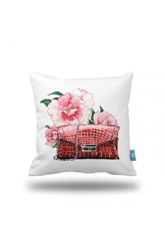 Çanta Desenli Dekoratif Yastık Kılıfı