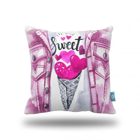 """""""Sweet Heart"""" Dekoratif Yastık Kılıfı"""