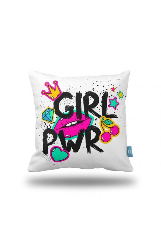 """""""GIRL PWR"""" Dekoratif Yastık Kılıfı"""