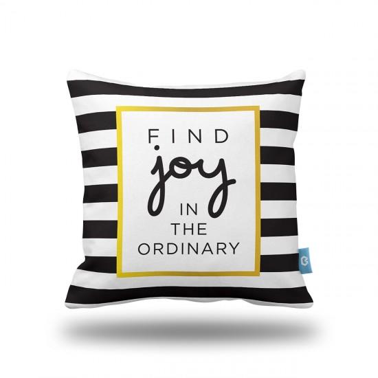 """""""Find Joy"""" Dekoratif Yastık Kılıfı"""