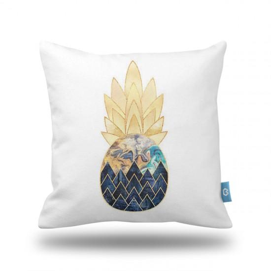 Ananas Desenli  Dekoratif Yastık Kılıfı