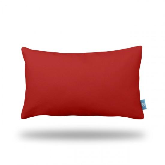 Kırmızı Dikdörtgen Dekoratif Yastık Kılıfı