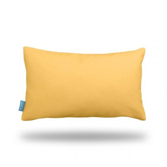 Sarı Dikdörtgen Dekoratif Yastık Kılıfı