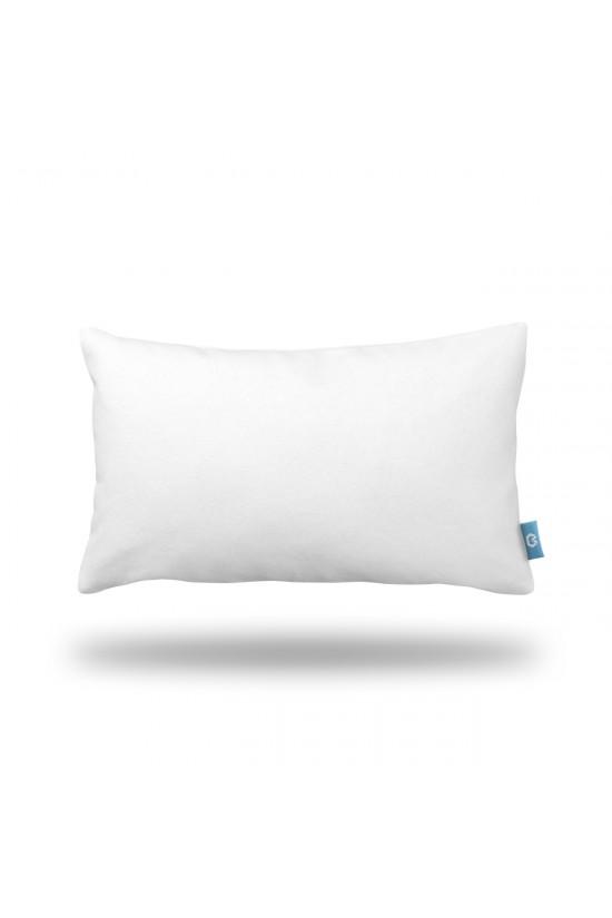 Beyaz Dikdörtgen Dekoratif Yastık Kılıfı
