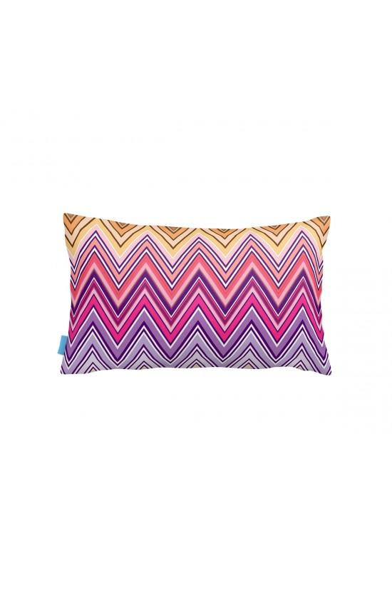 Zigzag Renkli Dikdörtgen Dekoratif Yastık Kılıfı