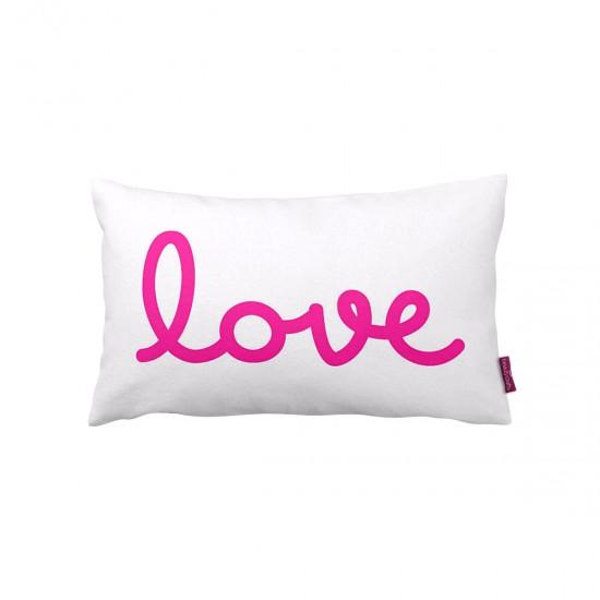 Beyaz Love  Dekoratif Kırlent