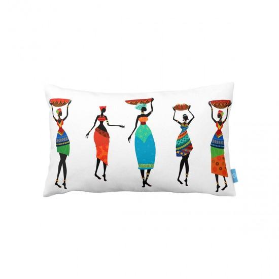 Afrika Dekoratif Dikdörtgen Yastık Kılıfı