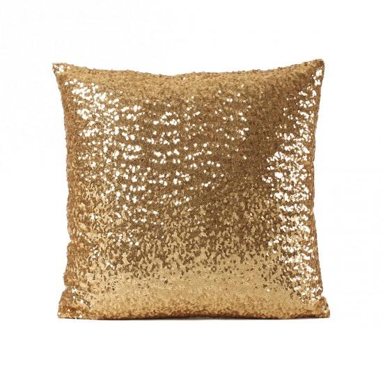 Altın Payetli Dekoratif Yastık Kılıfı