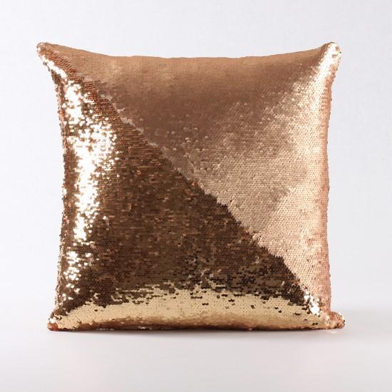 Rengi Değişebilen Pullu Kırlent (Altın / Mat Altın) - PP4303