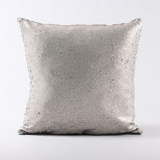 Rengi Değişebilen Pullu Kırlent (Siyah / Krem) - PP4306