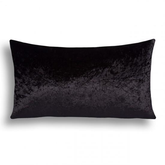 Velvet Decorative Cushion Cover - Black