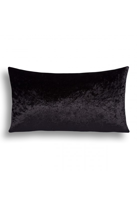 Velvet Decorative Cushion Cover - Black