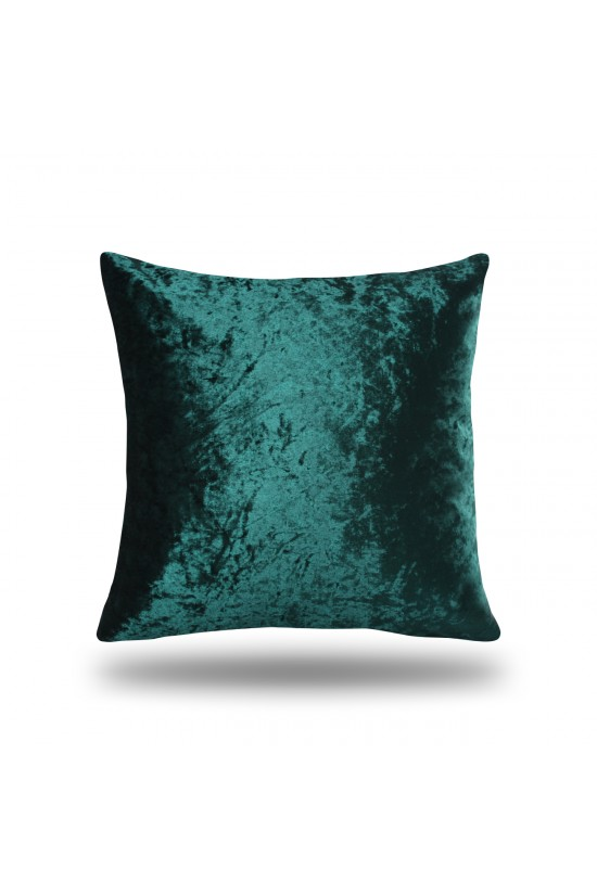 Velvet Decorative Cushion Cover - Green