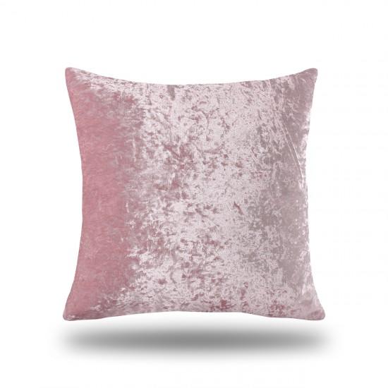 Velvet Decorative Cushion Cover - Powder Pink