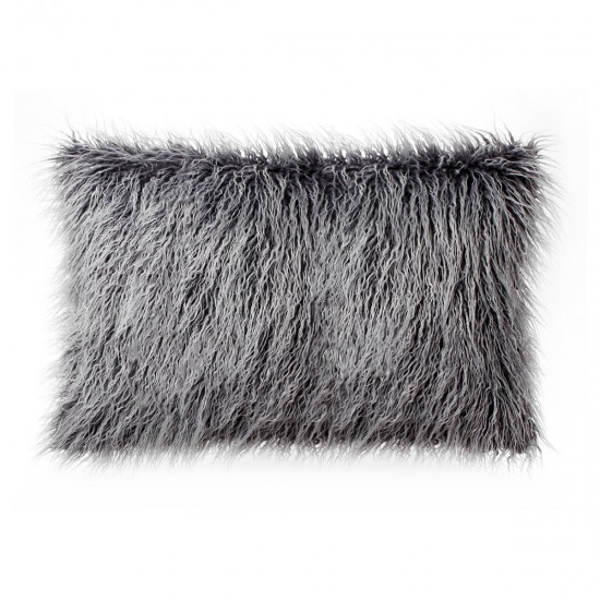 Faux Fur Tibetan Throw Pillow