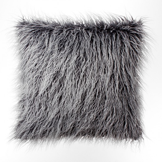 Faux Fur Tibetan Throw Pillow