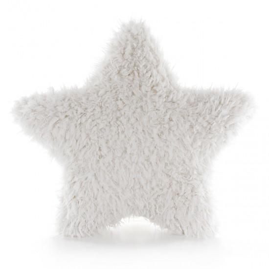 Peluş Yıldız Kırlent Kıvırcık - Ekru