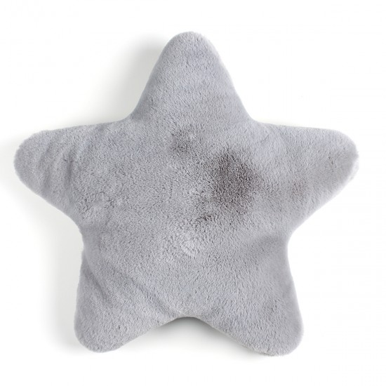 Plush Pillow Star Shaped - Grey