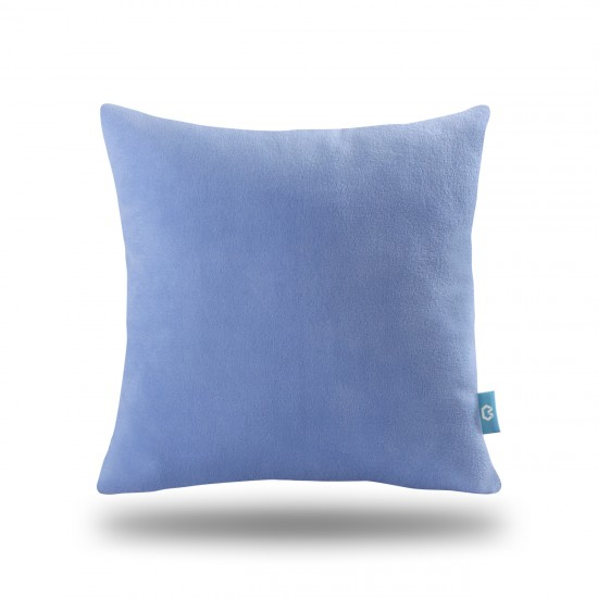 Decorative Fleece Pillow Cover - Blue