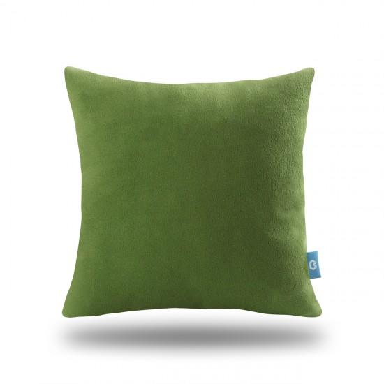 Dekoratif Polar Kırlent Kılıfı - Yeşil