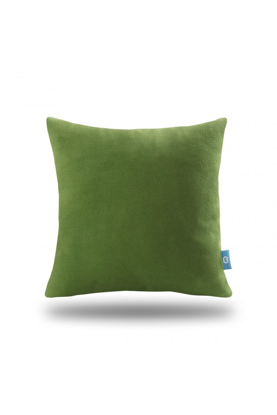 Decorative Fleece Pillow Cover - Green
