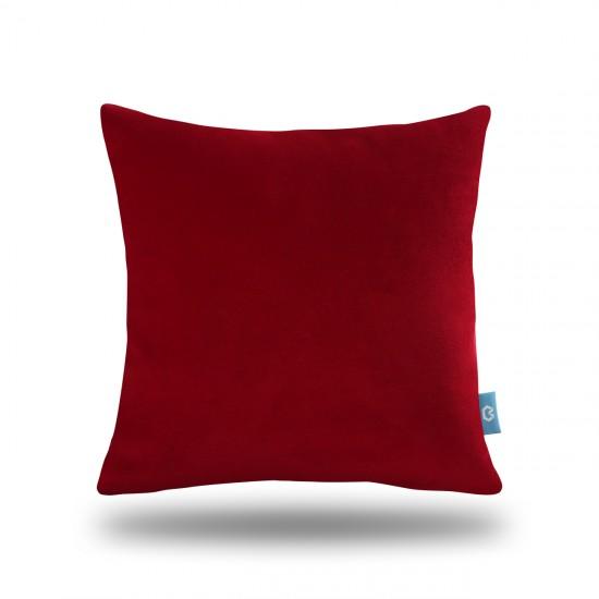 Dekoratif Polar Kırlent Kılıfı - Kırmızı
