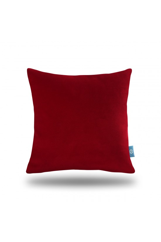 Decorative Fleece Pillow Cover - Red