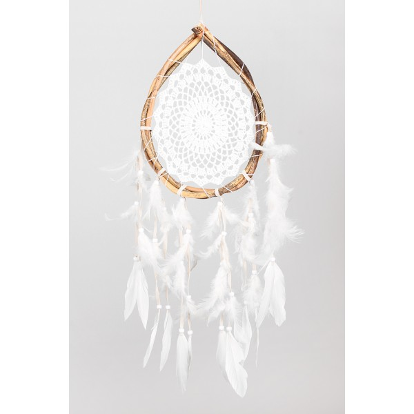 Dream Catcher Dekor - Beyaz 20x55 cm